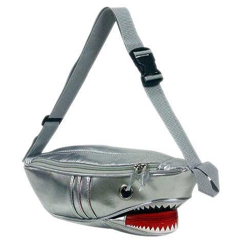a95bf257d3d8 Amazon.com   Evalent PU Leather Fish Design Shark Waist Bag Fanny ...