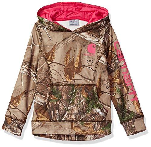 Price comparison product image Carhartt Big Girls' Camo Fleece Sweatshirt,  Dark Brown Print,  S-8