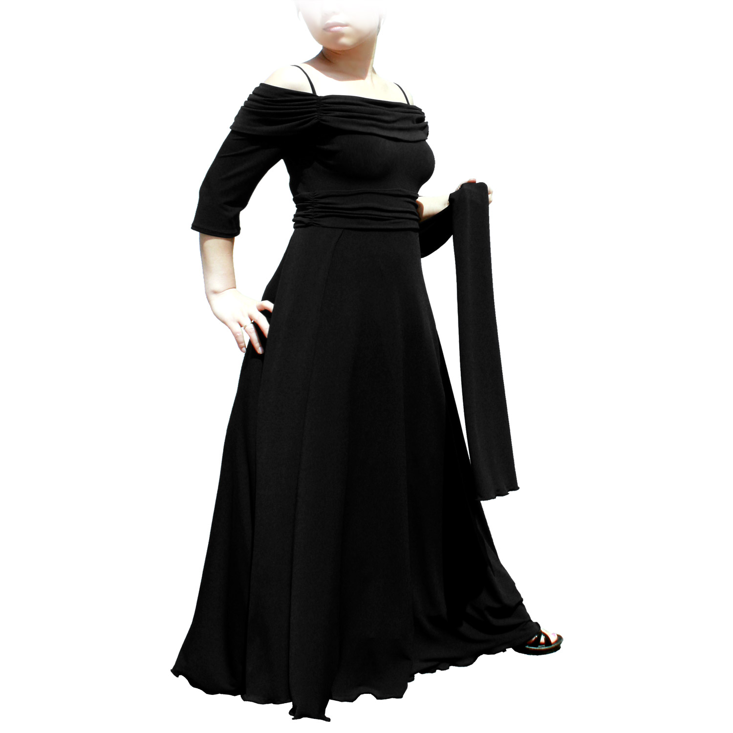 Evanese Women\'s Plus Size Formal Long Evening Dress 3/4 Sleeves and ...