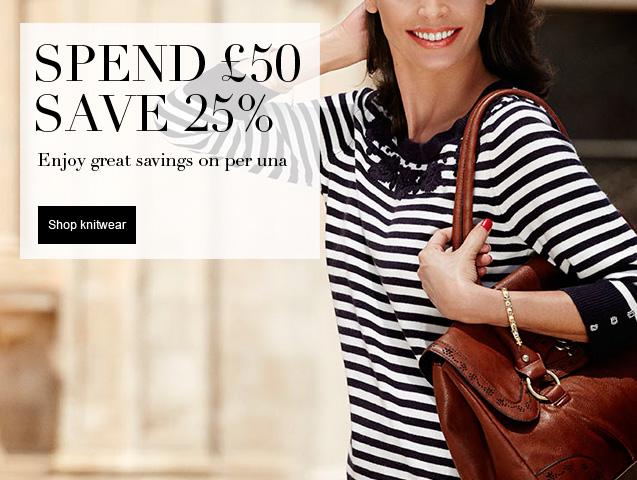 Spend £50 save 25% Enjoy great savings on per una