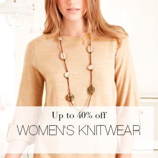 Up to 40% off women's KNITWEAR