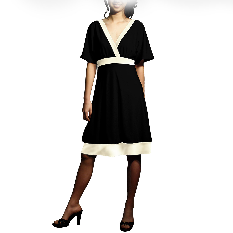Evanese Women's Short Kimono-sleeve Bubble-skirt Dress at Sears.com