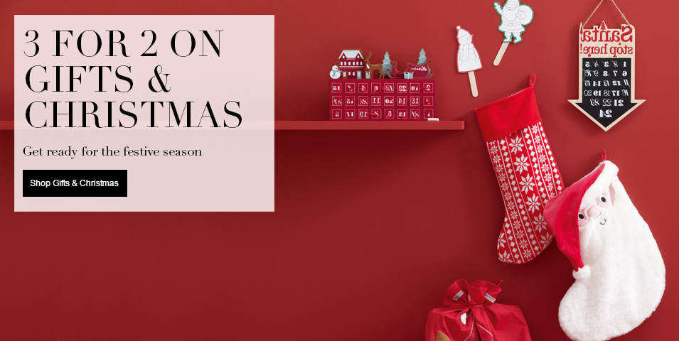 3 for 2 on Selected Gifts & Christmas Get ready for the festive season
