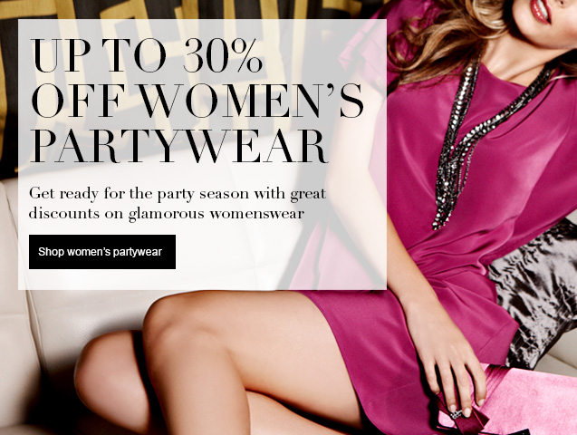 Up to 30% off Womens Partywear