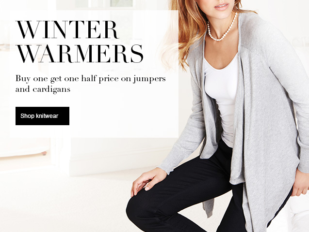Buy One Get One Half Price on Jumpers and Cardigans