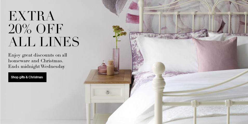 20% Off Everything for Two Days Only - Ends Wednesday at Midnight 20% off all Homeware including Christmas Shop
