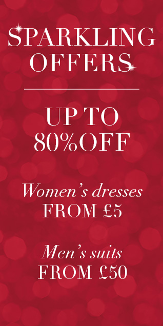 Up to 80 off Women's Dresses from £5 & Men's Suits from £50