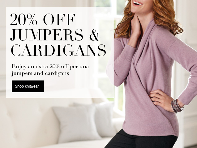 20% off Jumpers & Cardigans Enjoy an extra 20% off per una jumpers and cardigans