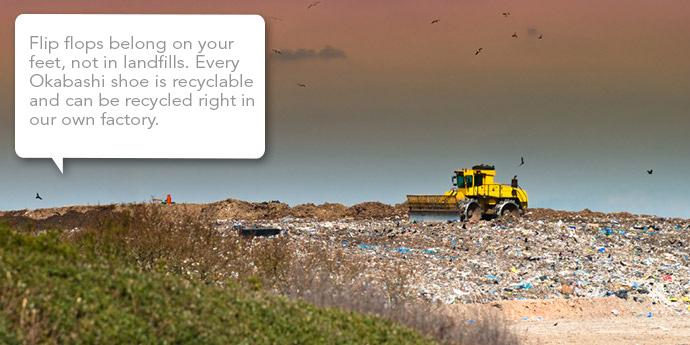 No Flip Flops in Landfills