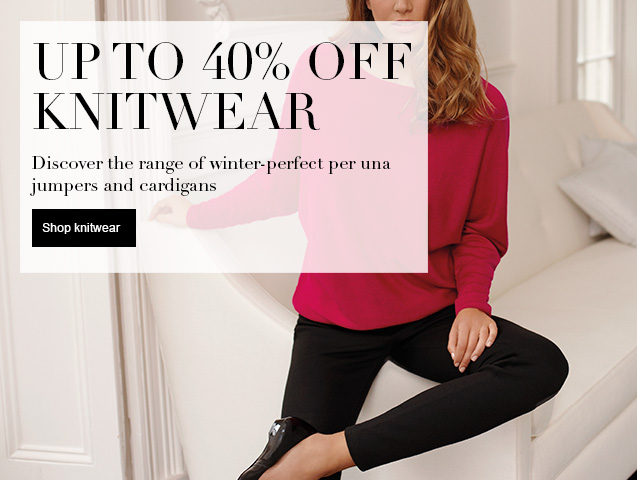 Up to 40% off knitwear