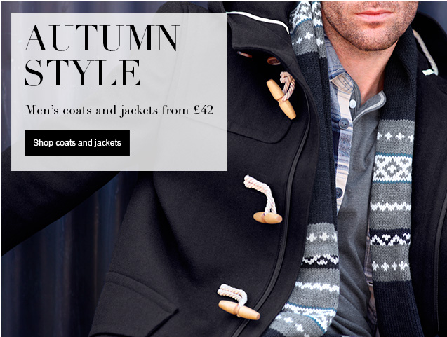 autumn style Men's coats & jackets from £42