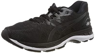ASICS Men's Gel-Nimbus 20 Running Shoe, Black/White/Carbon, 14 2E US