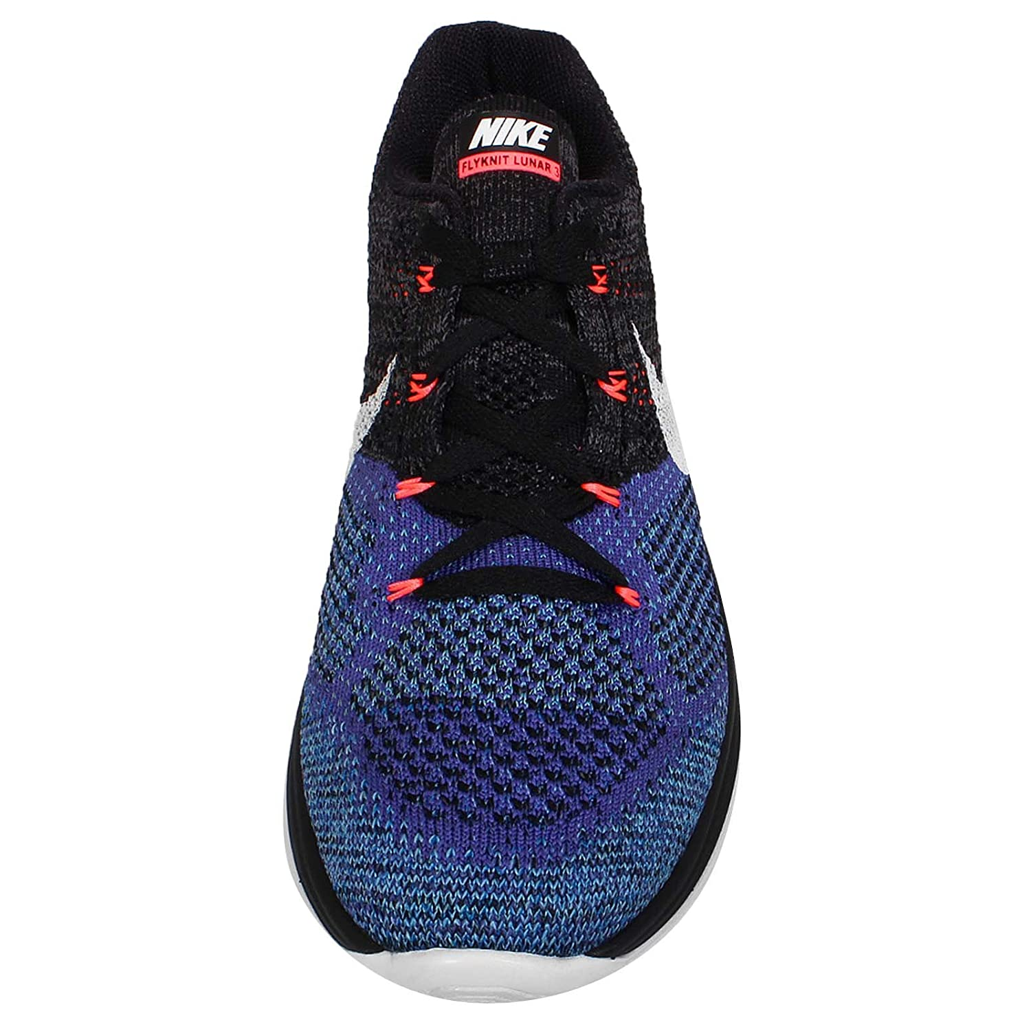 Amazon.com | Nike Mens Flyknit Lunar3, BLACK/WHITE-PERSIAN VIOLET-HT LAVA,  10.5 M US | Shoes