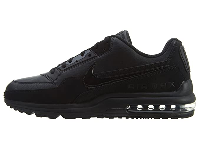 NIKE Men's Air Max LTD 3 BlackBlackBlack Leather Casual Shoes 15 M US