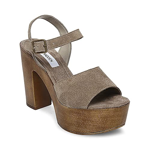 Steve Madden Women's Lulla Taupe Suede 415 6.0 US