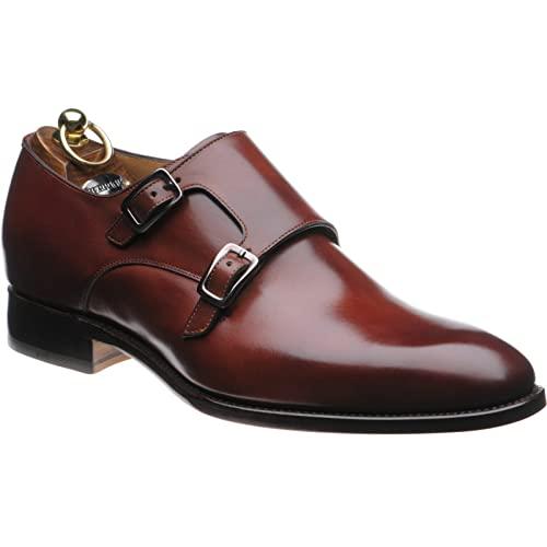 Herring Shakespeare doble monje zapatos en Rosewood Calf, color Marrón, talla 48.5