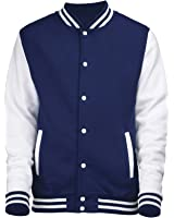 New Mens Varsity Letterman College- Baseball Jacket: Amazon.co.uk ...