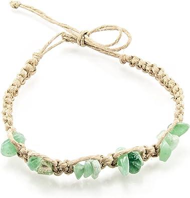 bracelet cheville pierre semi precieuse