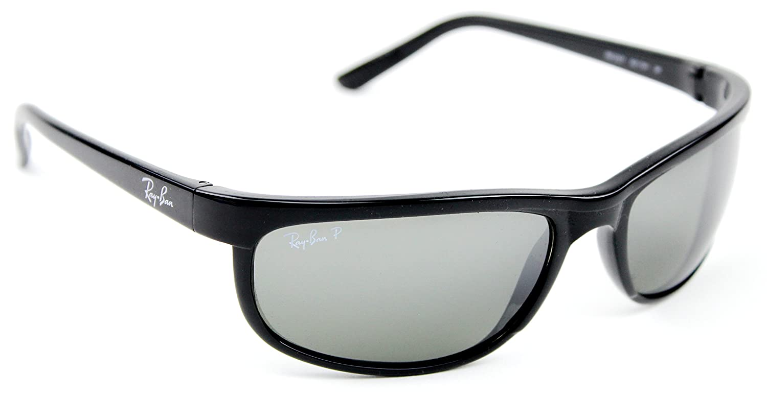 2027 601w1 2 Ban Shiny Predator Rb2027 62mm Black Ray Grey Polarized Mirror Okn08PXw