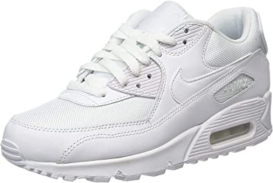 Buy Nike Men's Air Max 90 Essential Running Shoe (9) White ...
