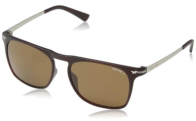 c2a1b961cd4 Size One Sunglasses Brown matt Police S1956 Intermediate Men s xSwAqp60