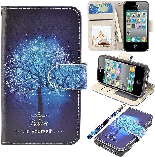 iPhone 4s Case, iPhone 4 case, MagicSky iPhone 4/4S Wallet Case ...