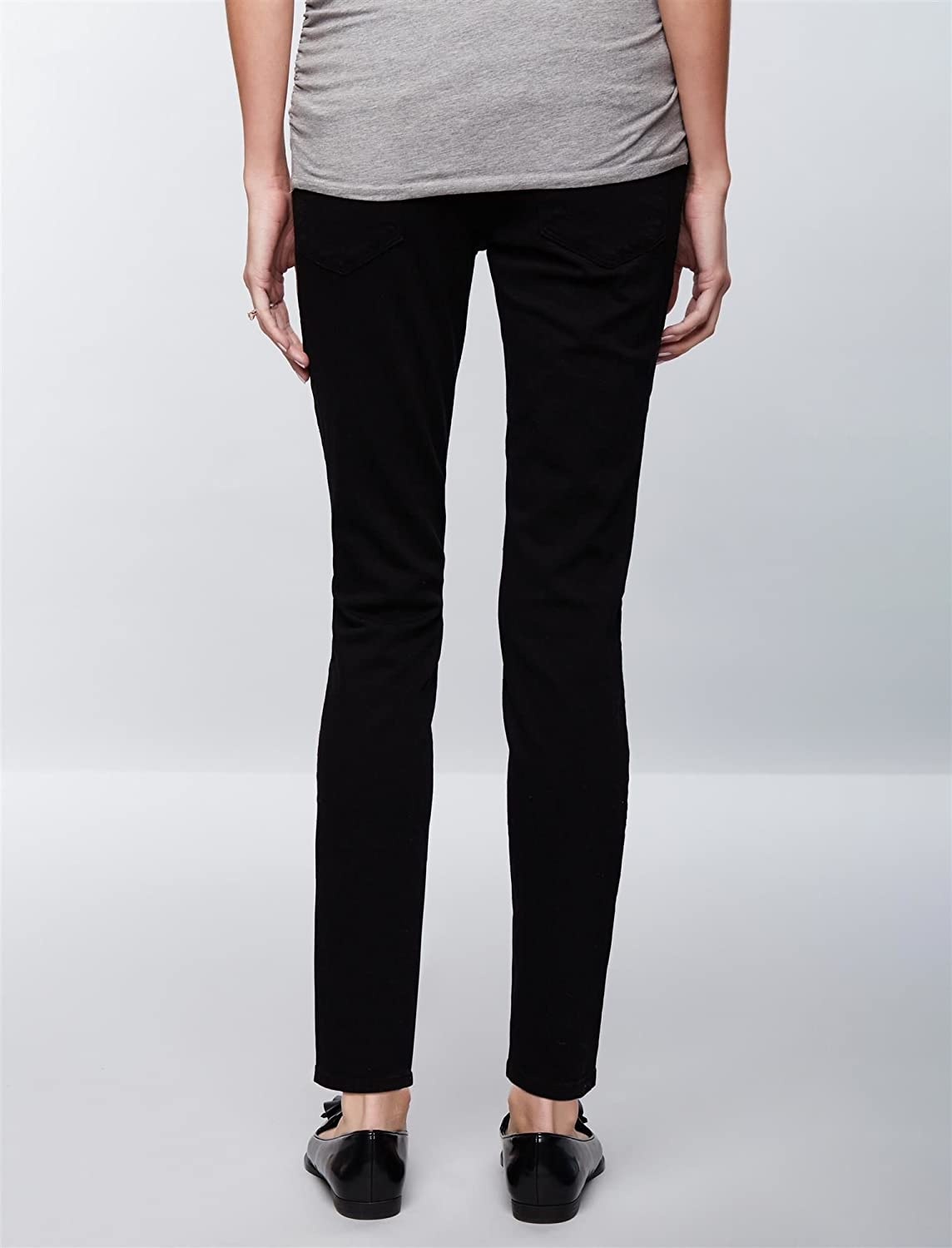 A Pea in the Pod Frame Secret Fit Belly Black Skinny Maternity ...