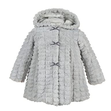 004d2f1da Girls White Fur Coat