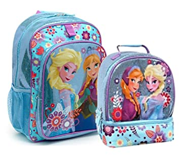 Amazon.com: Disney Frozen Anna & Elsa Girls Backpack and Lunch Box ...