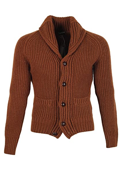 CL - TOM FORD Brown Shawl Collar Cardigan 007 / Mcqueen Size 60 ...