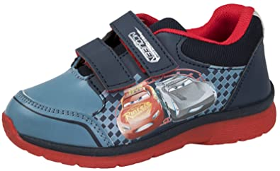 Disney Kids Boys Cars Hook and Loop Trainers Double Strap 8