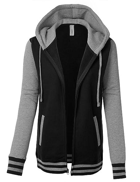 Womens black varsity jacket