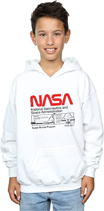 Absolute Cult NASA Niños Classic Space Shuttle Capucha