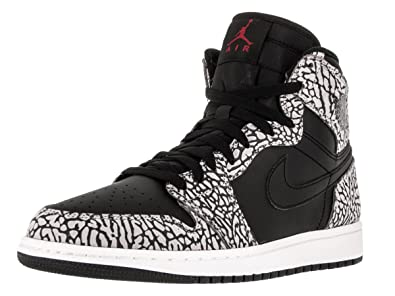 Jordan Mens Air 1 Retro High, BLACK/GYM RED-CEMENT GREY-ANTHRACITE