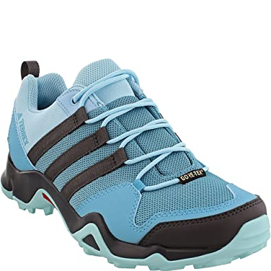 Terrex Swift R Gtx W Grey Two/Utility Black/Clear Aqua Women's Hiking Shoes - 6.5 B(M) US