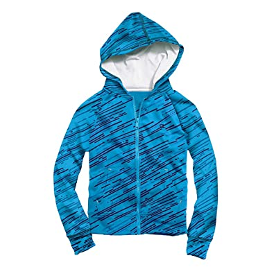 Amazon.com: Champion Girls` Performance Print Zip Hoodie: Sports ...
