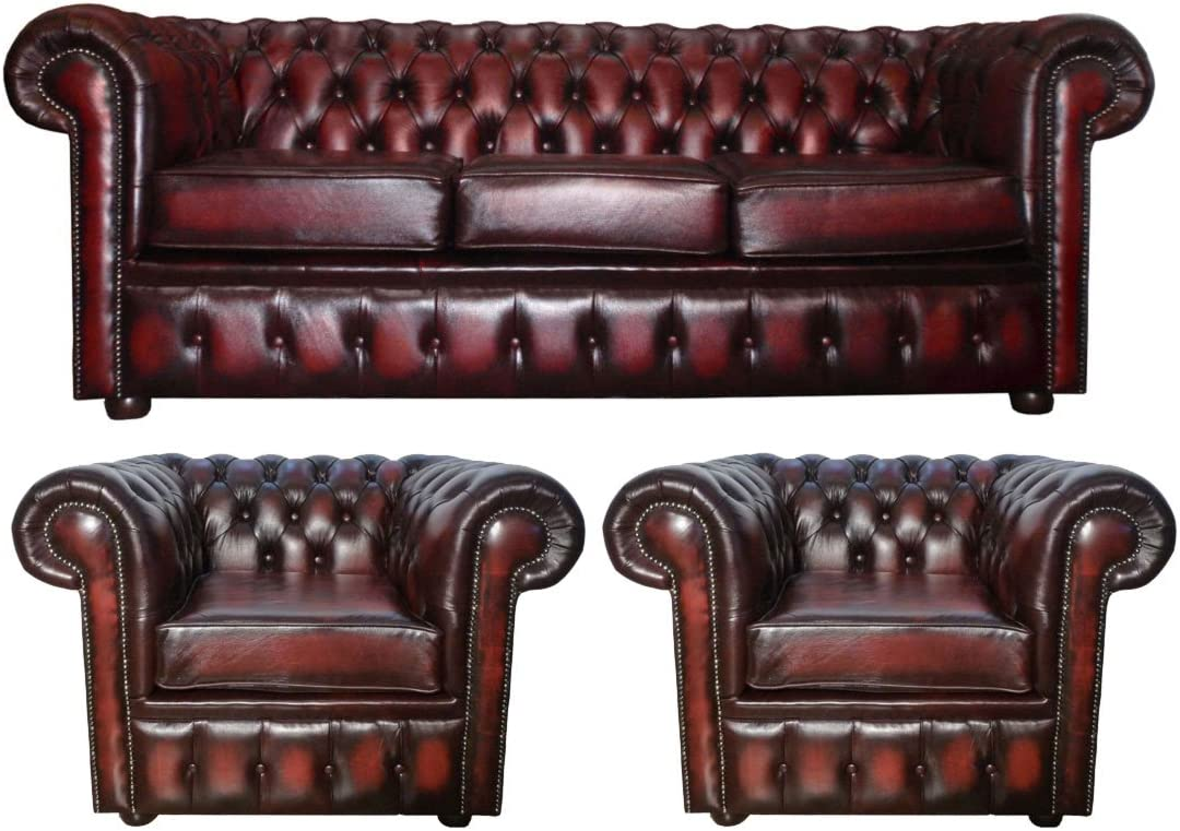 CK 3 comprenant un canapé Chesterfield Ensemble et places RL5A34j