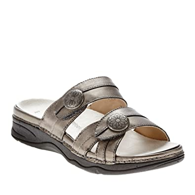 Drew Women's Ariana Sandals B(M) Pewter Leather Women's Shoe 5 B(M