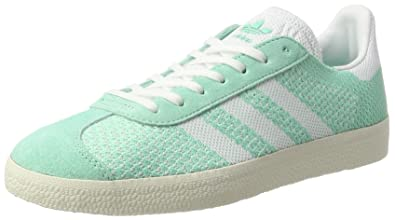 adidas Gazelle Primeknit, Sneakers Basses Femme, Vert (Easy Green/Footwear Chalk White
