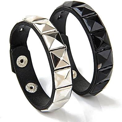 bracelet cuir metal