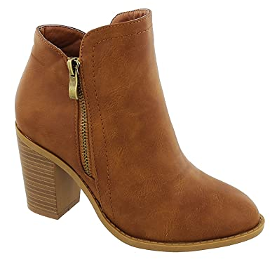 Dave-8 Women's Side Zipper Ankle Booties