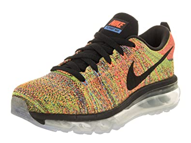 Nike Women's Wmns Flyknit Max, BLACK/BLACK-CHALK BL-HYPER ORANGE,