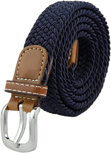 Shanxing Women's Belt Braided Elastic Fabric Stretch Elasticated Belts