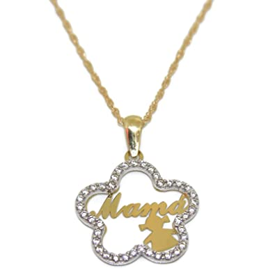 18 ktes Yellow Gold Necklace with Tree of Life and Fruits of the Best Quality CZ Never Say Never ZMygkhr1W8
