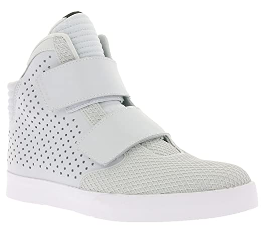 nike flystepper 2K3 PRM mens hi top trainers 677473 sneakers shoes (US 9.5,  white