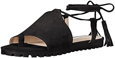 Nine West Women's Shayden Suede Dress Sandal, Black, ...