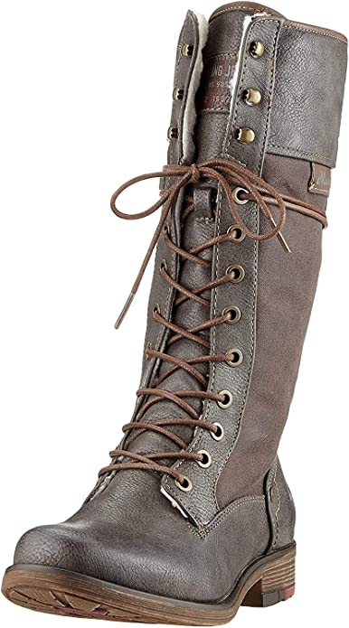 Mustang Lace Up Side Zip Donna Stivali Stivaletti: Amazon.it