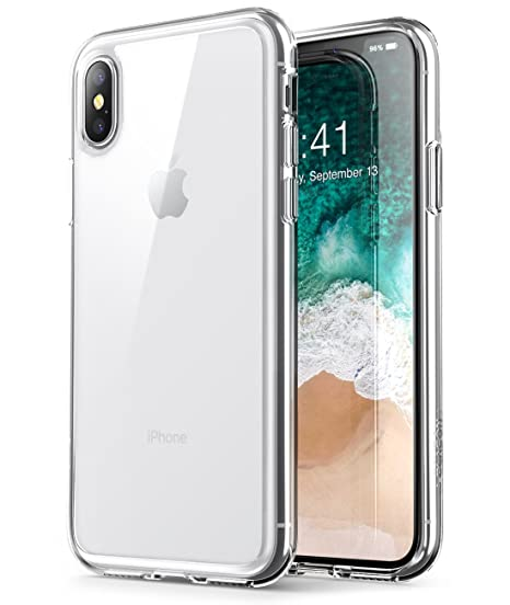 custodia trasparente rigida con tasca iphone x