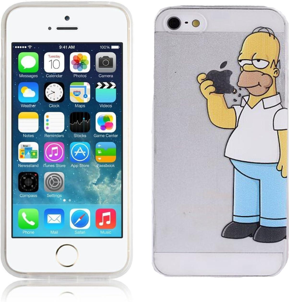 Cover Simpson Homer Mangia Mela Per iPhone 5 5S SE Case TPU Gomma ...