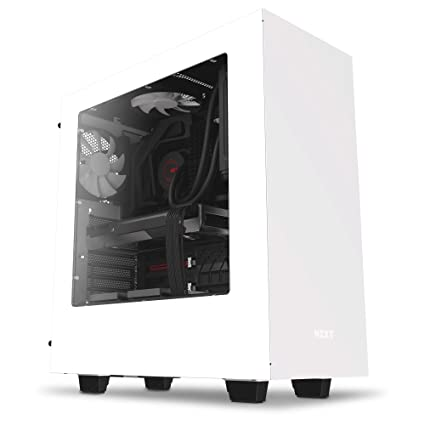 NZXT S340 Mid Tower Case CA-S340W-W1 (White)